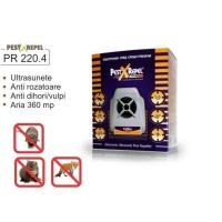 Aparat Pest Repeller cu ultrasunete anti rozatoare si insecte PR 220.4 Electronic
