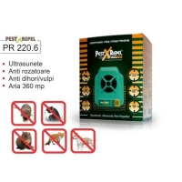 Aparat Pest Repeller cu ultrasunete anti rozatoare si insecte PR 220.6 Electronic